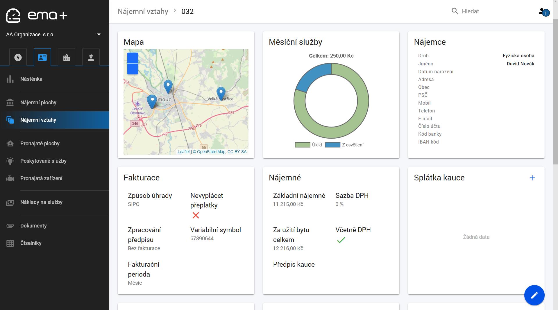 Správa a řízení nájemních vztahů EMA+